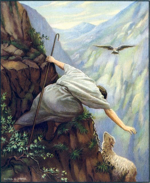 Image result for jesus seeking the lost sheep
