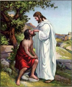 Healing of a Blind Man in Bethsaida Mark 8:22-25