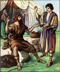 Esau sells his inheritance for a bowl of red bean soup Genesis 25:30